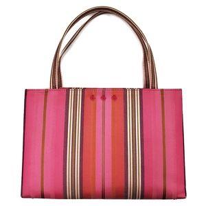 Kate Spade Silk Stripe Evening Bag Retro Pink
